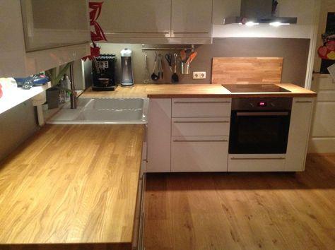 Massivholzplatte Küchenarbeitsplatte Eiche auch für IKEA - arbeitsplatte küche massivholz