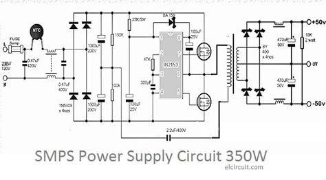 350W SMPS Power Supply Circuit in 2019 Electronics Power supply