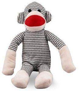 Pet Supplies Nandog My Bff Plush Pet Toy Grey Sock Monkey