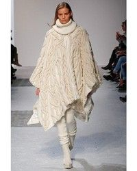 Barbara Bui Cable Knit Wool Poncho | Where to buy & how to wear