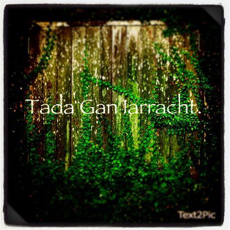 """Nothing Without Effort"" --Irish Proverb (Gaelic)"
