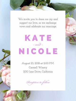 Wedding Invite Example Invites