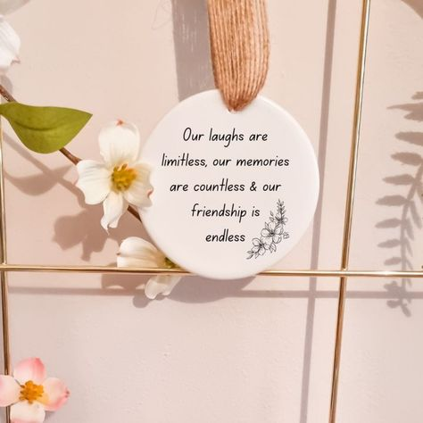 Quoted small gift token ceramic. Great gift idea for any occasion or as a small thinking of you gift. Little Box of delights also offers a range of gift ideas alongside our Build your own box or are Ready to go box