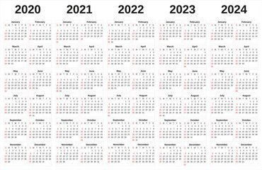 2020 2024 Annual Calendar With White Background Spon Annual Background White Calendar Ad Vintage Graphic Design Annual Calendar How To Draw Hands