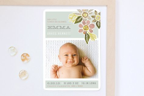 Birth Announcement Magnets- because everyone puts them on the fridge anyway!