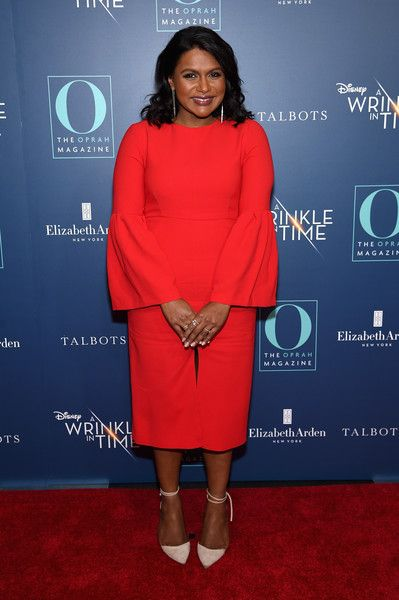 Mindy Kaling attends as O, The Oprah Magazine, hosts special NYC screening of 'A Wrinkle In Time' at Walter Reade Theater.