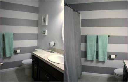 Trendy Bathroom Paint Ideas Stripes Wall Colors Ideas Modern Bathroom Colours Striped Walls Bathroom Colors Gray