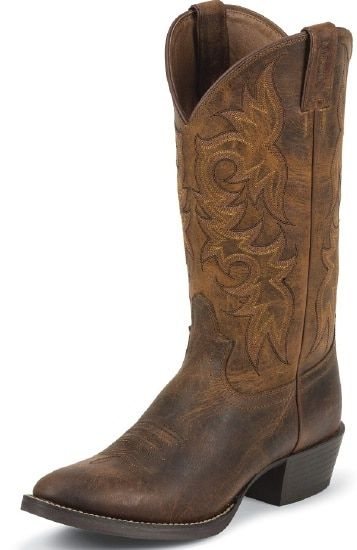 92e5f1d1df7 Justin Men's Stampede Western Boot with Rugged Tan Cowhide Foot and ...