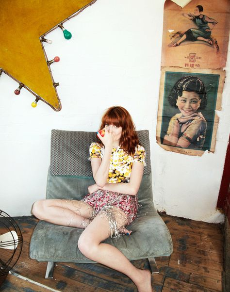 Florence Welch   (Nylon by Valerie Phillips)