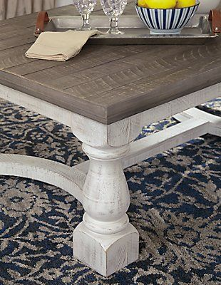Havalance Coffee Table Gray White In 2020 Beach Living Room