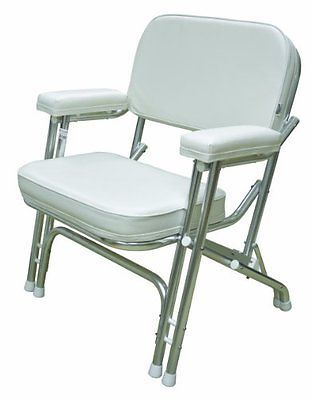 Superior Chairs And Seats 19985: Wise Folding Deck Chair With Aluminum Frame, White   U003e