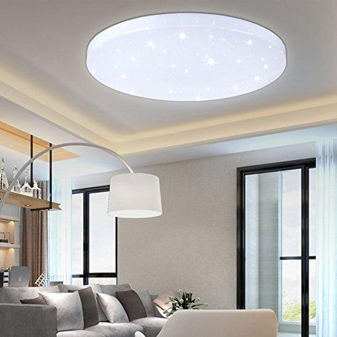 Hg 16w Led Deckenleuchte Deckenlampe Weiss Wandlampe Rund Deckenbeleuchtung Wohnraum Wand Deckenleuc Deckenleuchte Wohnzimmer Wohnzimmer Leuchte Deckenleuchten