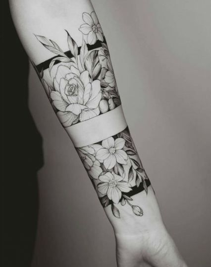 Super Tattoo Forearm Sleeve Negative Space Ink 40 Ideas Cuff Tattoo Tattoos Forearm Tattoos