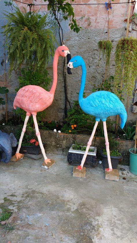 Fácil de Fazer Flamingos para Jardins (1,60 cm)