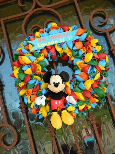 Mickey Geburtstag, Mickey Party, Minni Maus Thema Partei, 2. Geburtstag,  Mickymaus Kranz, Baby Kränze, Micky Maus Wunderhaus, Vereinsheimen, Balloon  Wreath