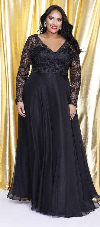 24 Plus Size Long Wedding Guest Dresses With Sleeves Plus Size Gowns With Sleeves Plus Siz Plus Size Evening Gown Plus Size Black Dresses Plus Size Gowns