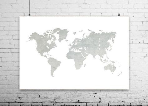 World map print printable map travel map grey world map world world map print printable map travel map grey world map world map poster art print world map wall prints home decor themed nursery by ikon gumiabroncs Gallery