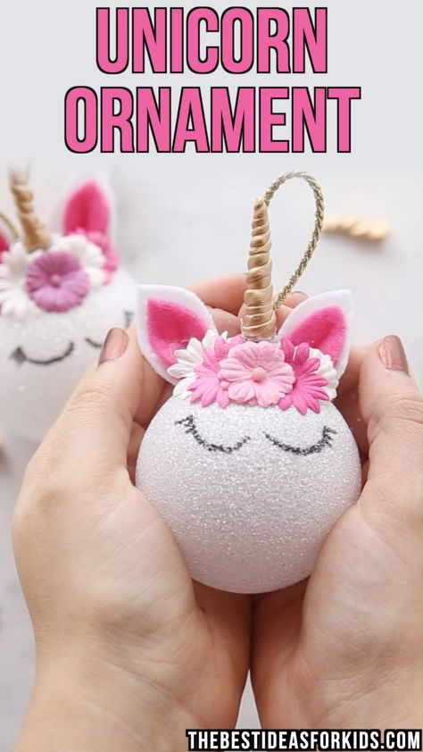 Unicorn Ornaments - Easy DIY Tutorial