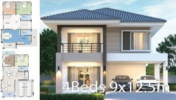 House Design Plan 13x9 5m With 3 Bedrooms Home Ideas In 2020 Architect Design House Home Design Plans 2 Storey House Design