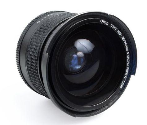 Objectif Fisheye 0,35X avec macro pour CANON EOS 1100D 1000D 650D 600D 550D 500D 450D 400D 350D 300D 10D 20D 30D 40D 50D 60D 1D 5D 6D 7D