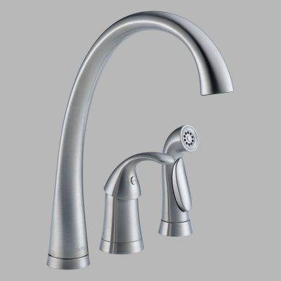 Delta Pilar 4380 Dst Single Handle Kitchen Faucet With Side Spray