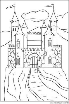 Ritterburg Ausmalbild Malvorlage Kinder Und Frritterburg Ausmalbild Und Malvorlage F Disney Princess Coloring Pages Coloring Pages Castle Coloring Page