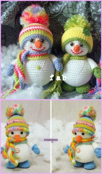 Amigurumi Crochet Snowman   AllFreeCrochet.com   586x345