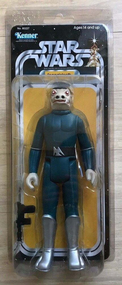 Custom Vintage Star Wars blue Snaggletooth 3.75 action figure rare holy grail