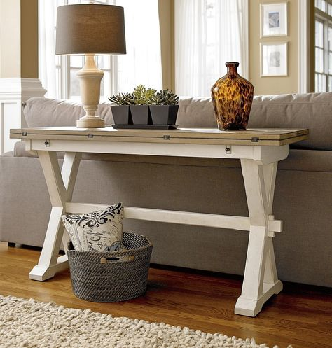 Coastal Beach White Drop Leaf Kitchen Console Table Furniture Home Decor Decor