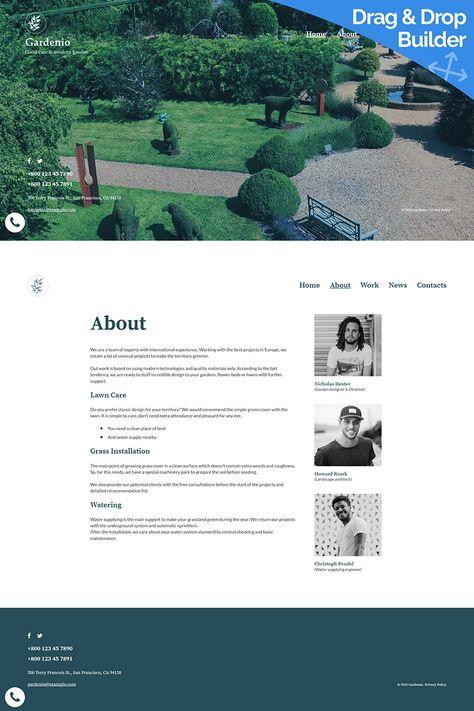 Gardenio - Garden & Landscape Design Moto CMS 3 Template #96157