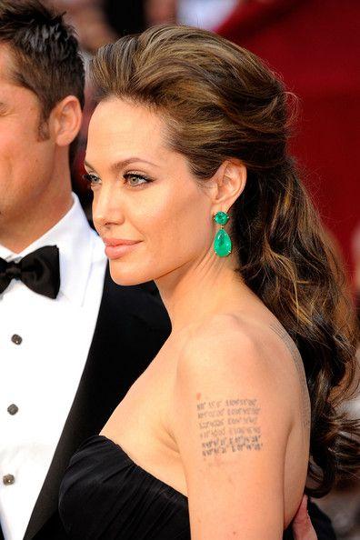 Angelina Jolie Hairstyles Hairstylo Oscar Hairstyles Glamorous Hair Half Updo Hairstyles
