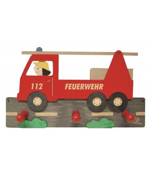 Garderobe Feuerwehr Von Olli Olbot 35400 Aus Holz Kinderzimmer Wandgarderobe 2 Flowerpower Kinderzimmer Kinder Zimmer Kindergarderobe Holz
