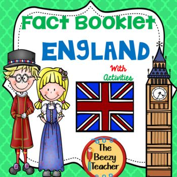 England Fact Booklet And Activities Activities Bear Crafts Booklet