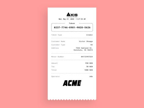 Payment Receipt Printout Template Sketch Freebie