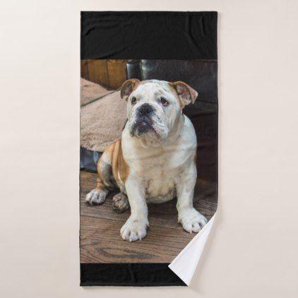 British Bulldog Puppy Bath Towel Set Zazzle Com Bulldog