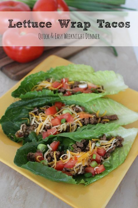 These lettuce wrap tacos are just so easy to make. Includes a homemade taco seasoning recipe (and of course, you can use tortillas instead of lettuce leaves!)
