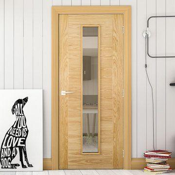 Seville Oak Fire Door Clear Glass 1 2 Hour Fire Rated Prefinished Fire Doors Glass Door Sliding Doors