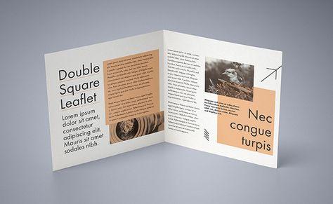 Free double square leaflet mockup on Behance Alternatives to Tri - gate fold brochure mockup