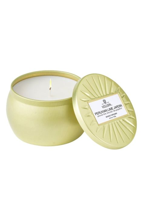 What it is: A candle featuring a 100% natural wick and coconut wax blend to cleanly disperse the scent of Peruvian Lime Jardin.