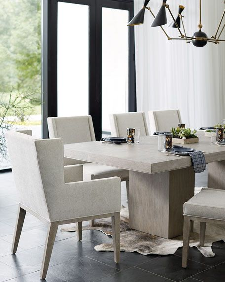 Bernhardt Linea Double Pedestal Dining Table With Images