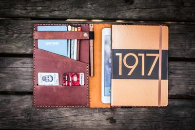 Leather Journal Cover for Moleskine XL Soft Cover//Wickett /& Craig Full Grain Leather//Portfolio for 7.5x10 Journals