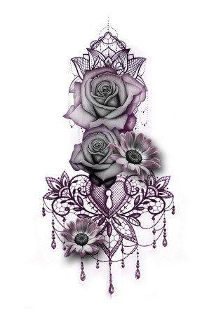 Gothic Rose Mandala Chandelier Back Tattoo ideas for Women - Traditional Vintage.Gothic Rose Mandala Chandelier Back Tattoo ideas for Women - Traditional Vintage Cool Unique Geometric Black Floral Flower Sunflower for Spine - rosas góticas ide Diy Tattoo, Tattoo Life, Custom Tattoo, Tattoo Arm, Knot Tattoo, Mandala Wrist Tattoo, Chest Tattoo Dragon, Back Thigh Tattoo, Mandala Tattoo Sleeve Women