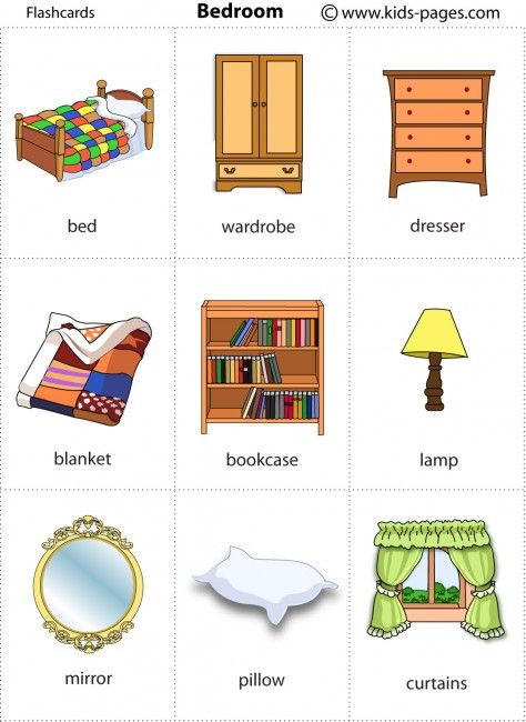Bedroom Flashcard Flashcards For Kids Flashcards Teaching English