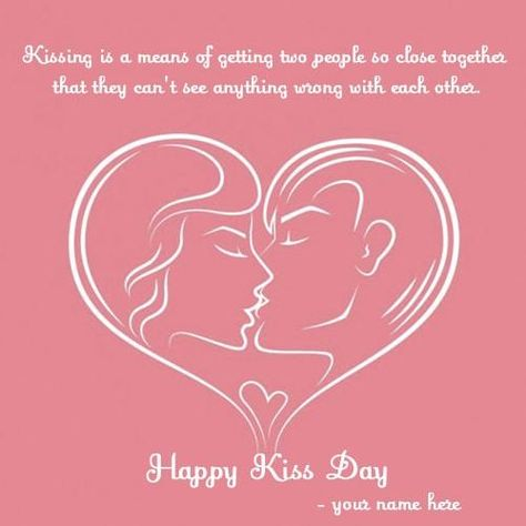 happy kiss day wishes heart love images with name editor, generate ...