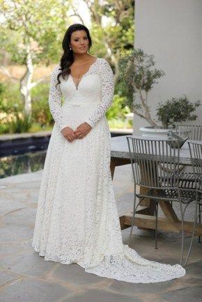 44 Beautiful Plus Size Winter Wedding Dress Ideas | wedding ...