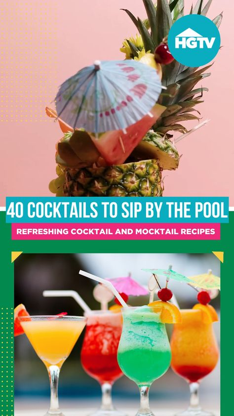 Soak up the warm summer sun with these bright, refreshing cocktail and mocktail recipes — because every hour is happy hour by the pool. 🍹
