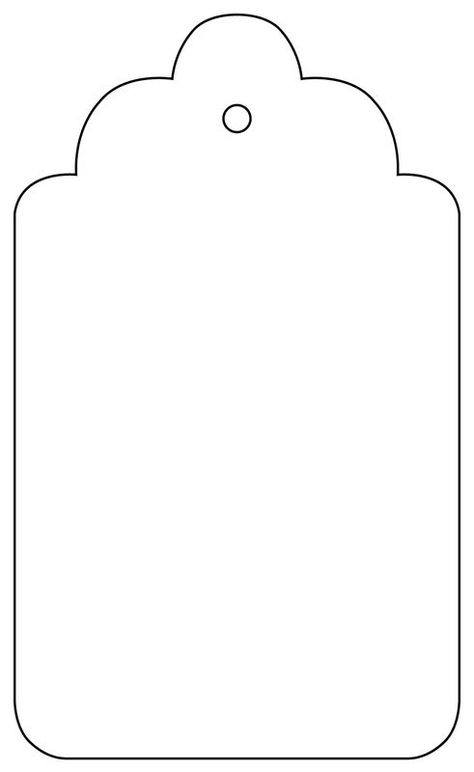Tag with scalloped edgesPrint out the template, scale to your own requirements and create your own fabulous tags!(Not available for purchase)