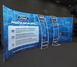 custom trade show exhibit structures like design 682383 stand out on the convention floor draw eyes to your trade show exhibition custom trade show exhibit