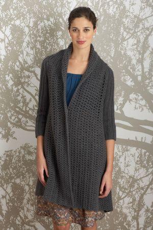 Winged Jacket Pattern (Knit-Crochet)