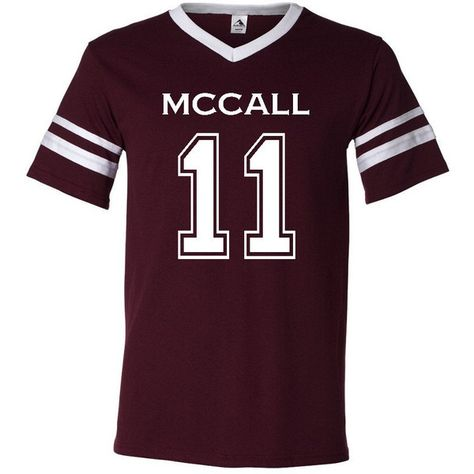 1bf6e6490f64 Teen Wolf Beacon Hills Lacrosse Mccall 11 Unisex Jersey (62 BRL) ❤ liked on  Polyvore featuring tops